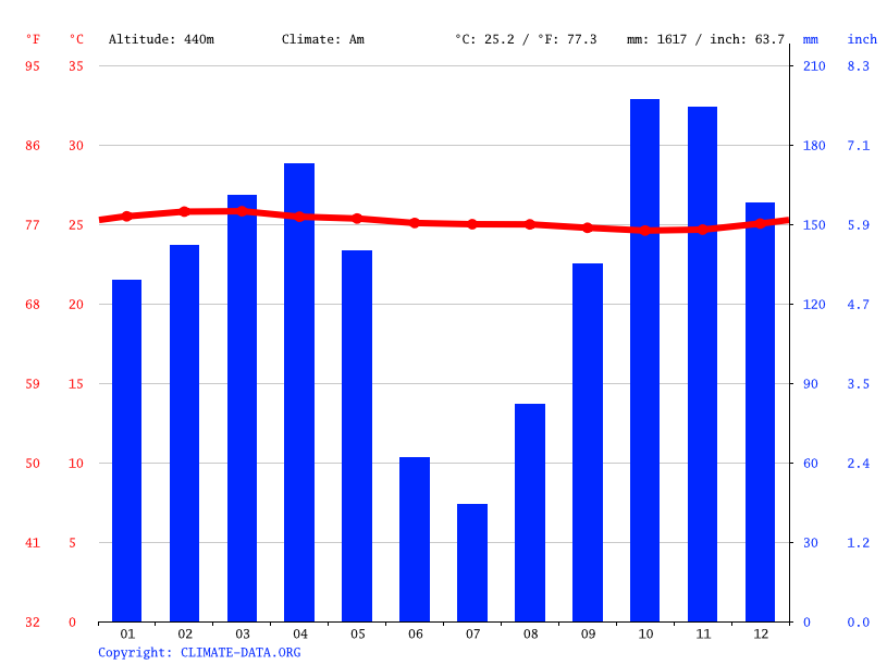 Climate graph // Weather by Month, Abala