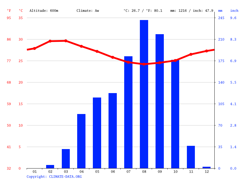 Climate graph // Weather by Month, Bossa