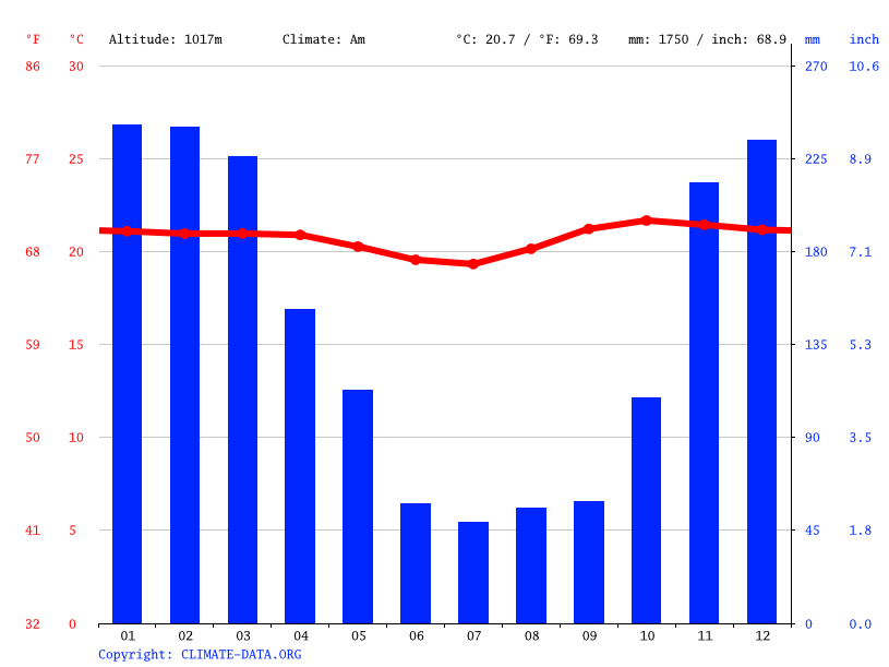 Climate graph // Weather by Month, Gloria Sol Naciente