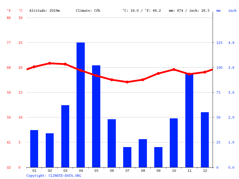Climate graph // Weather by Month, Ngong