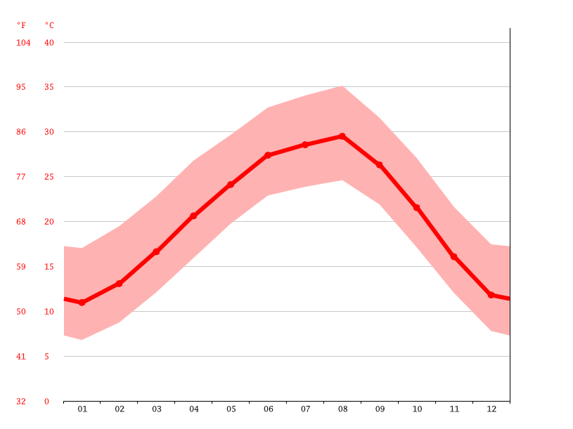 Temperature graph, New Braunfels
