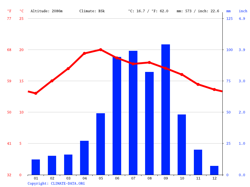 Climate graph // Weather by Month, Bernal