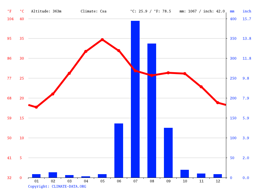 Climate graph // Weather by Month, Rajgarh