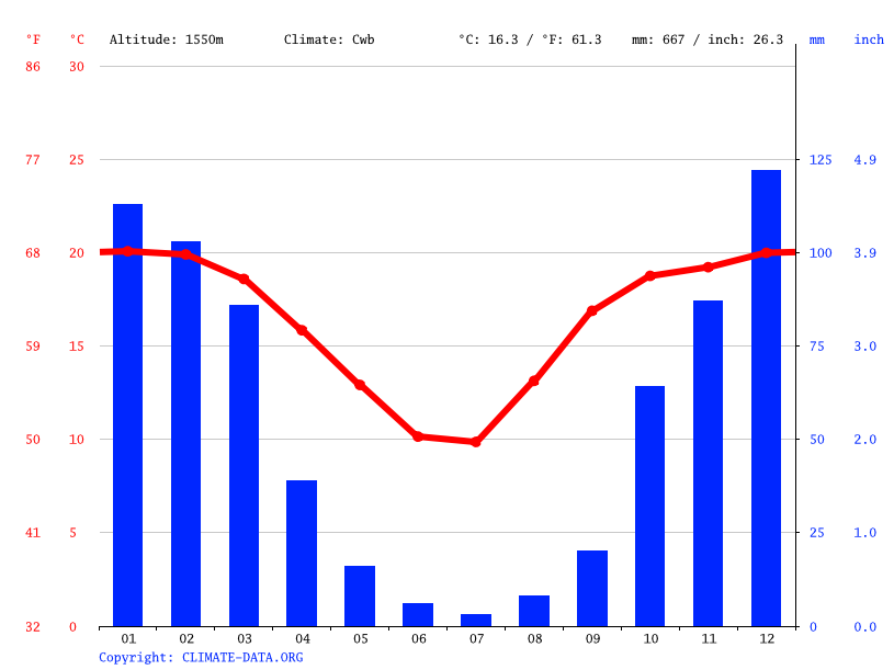 Climate graph // Weather by Month, Alexandra