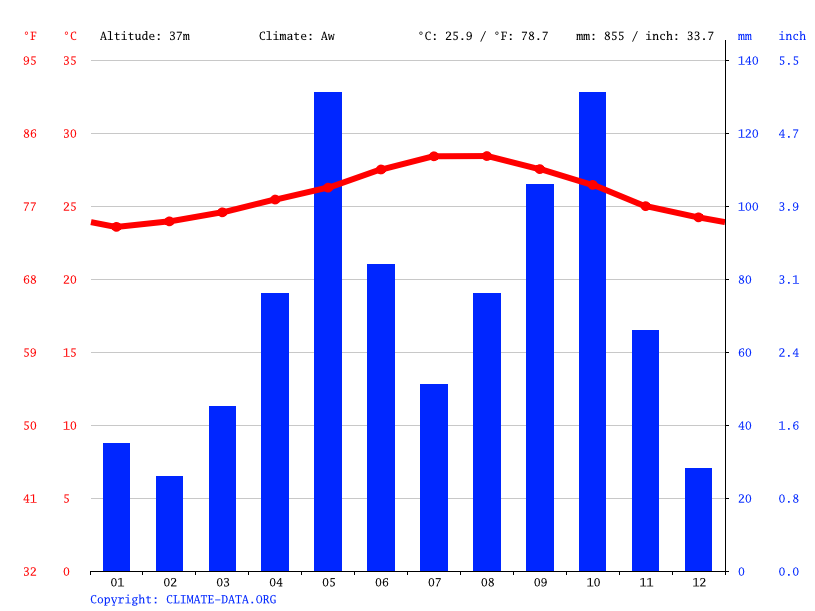 Climate graph // Weather by Month, Dajabón