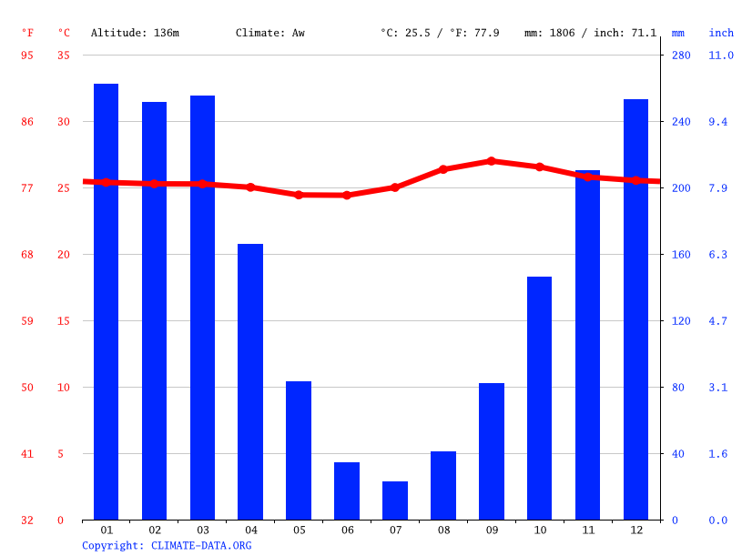 Climate graph // Weather by Month, Rio Branco