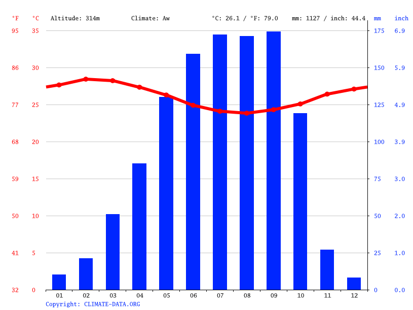 Climate graph // Weather by Month, Ilora