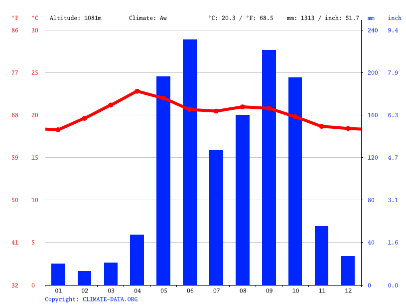 Climate graph // Weather by Month, Carpintero