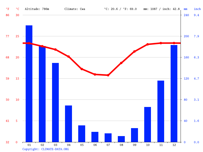 Climate graph // Weather by Month, Chorety