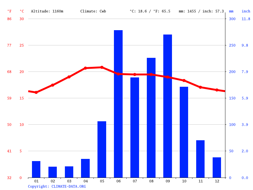 Climate graph // Weather by Month, Bochil