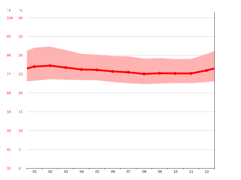Temperature graph, Basoko