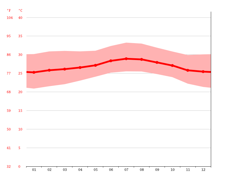 Temperature graph, Delmas