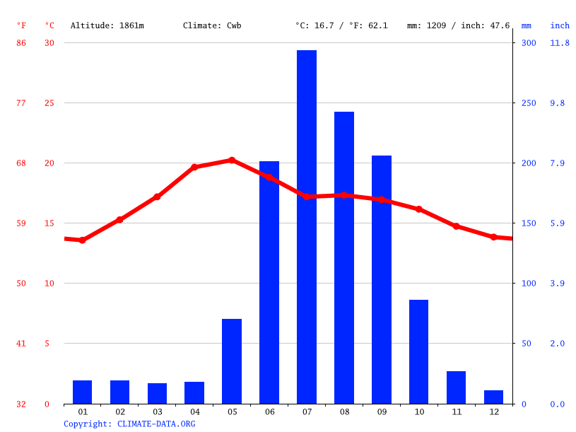 Climate graph // Weather by Month, Acámbaro