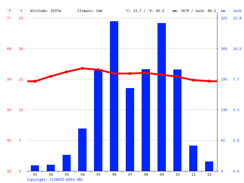Climate graph // Weather by Month, Patzun