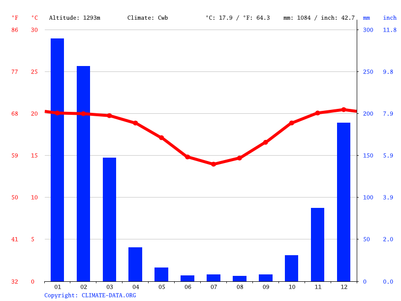 Climate graph // Weather by Month, Antananarivo