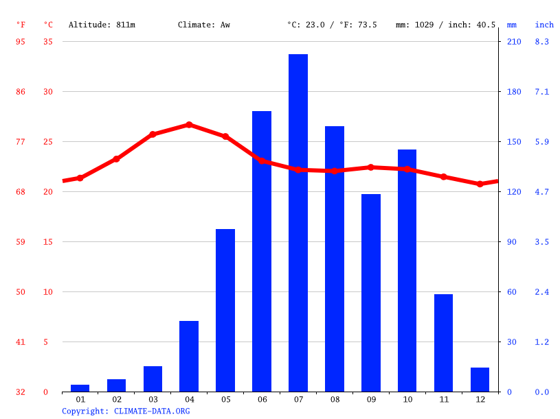 Climate graph // Weather by Month, Javagal