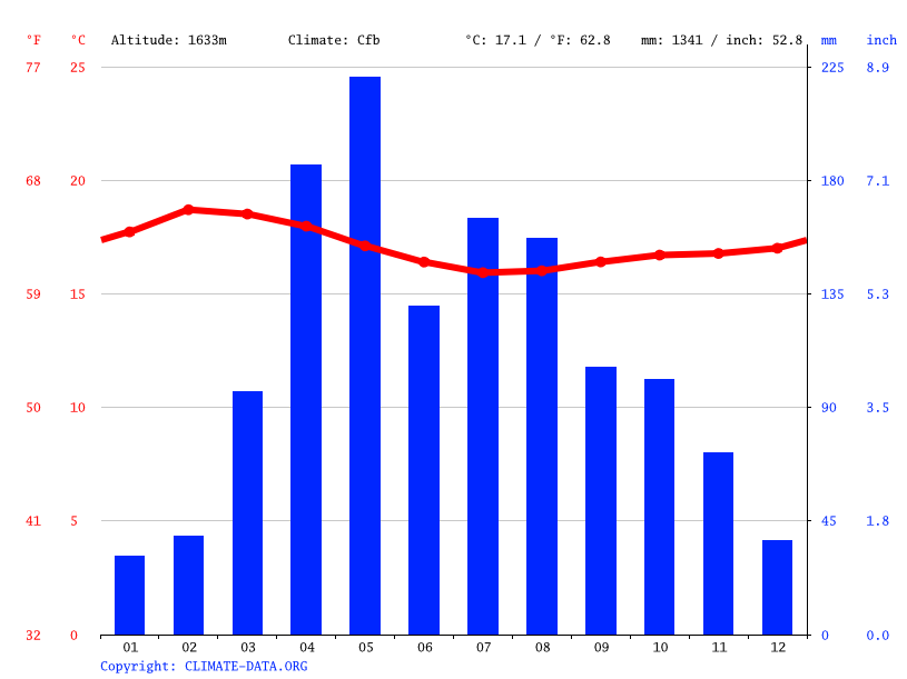 Climate graph // Weather by Month, Konda