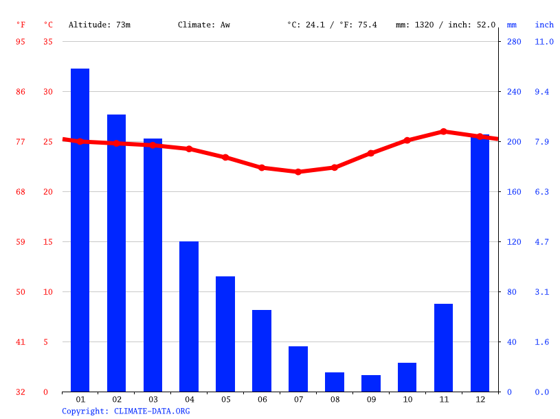Climate graph // Weather by Month, Suai