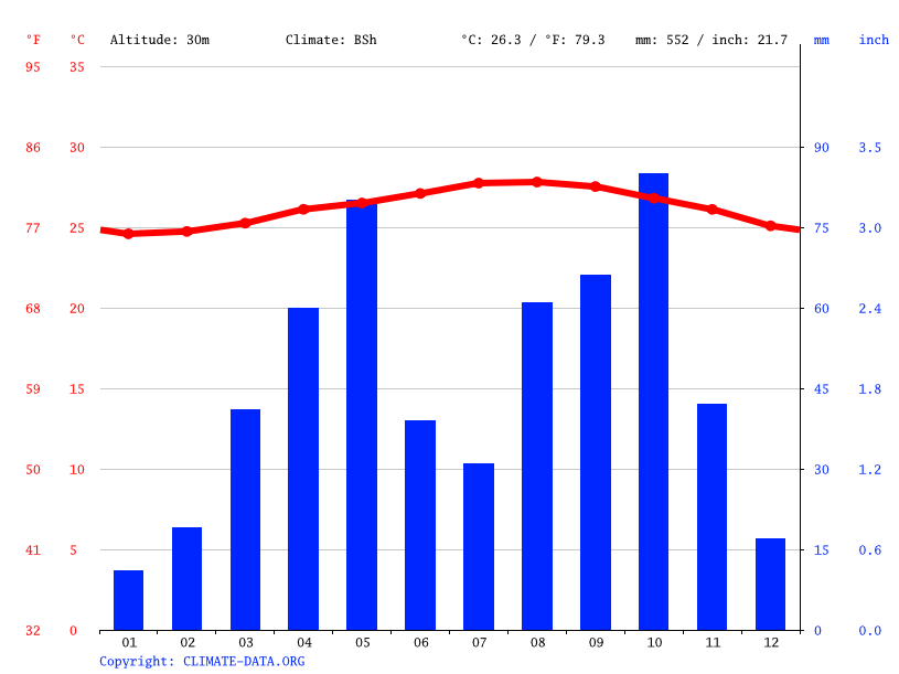 Climate graph // Weather by Month, Tamayo