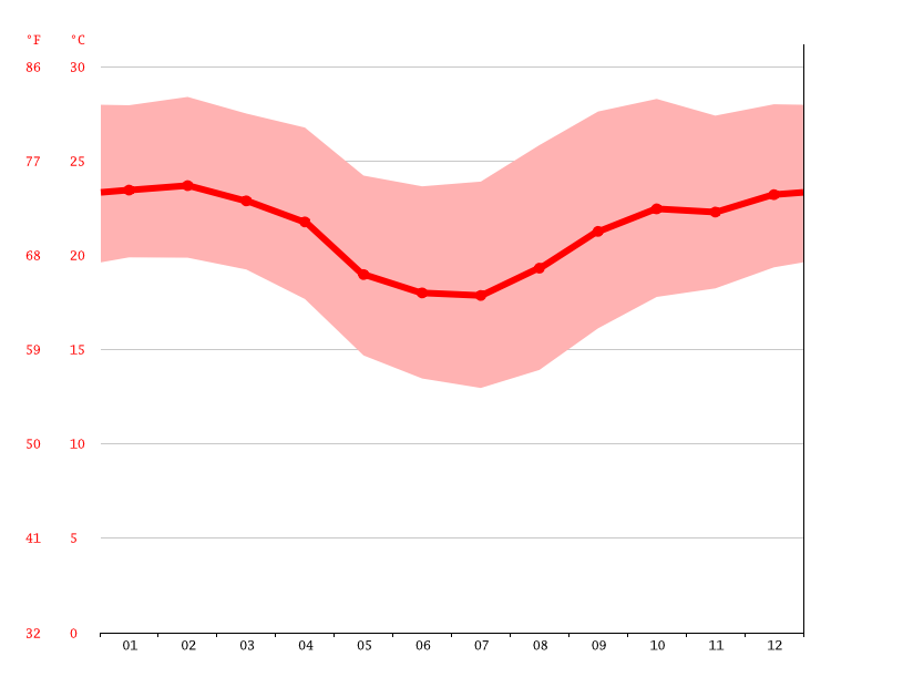 Temperature graph, Campinas