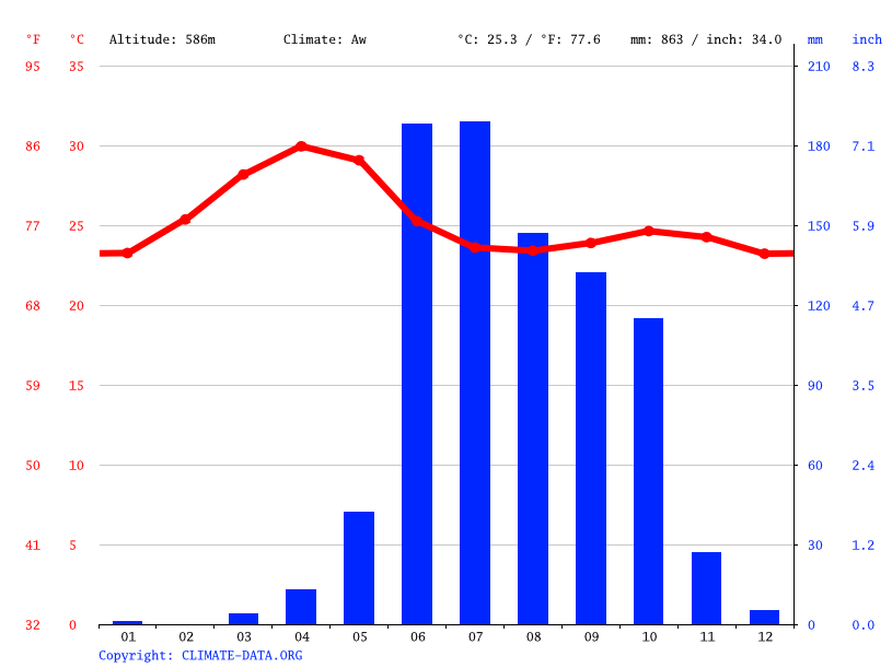 Climate graph // Weather by Month, Tasgaon