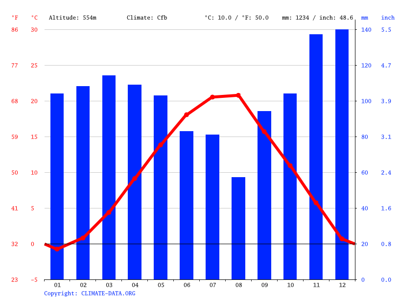Climate graph // Weather by Month, Junik