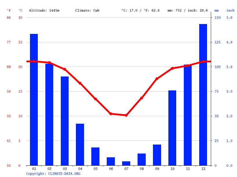 Climate graph // Weather by Month, Vereeniging