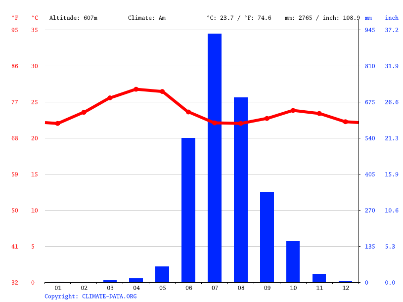 Climate graph // Weather by Month, Gokul
