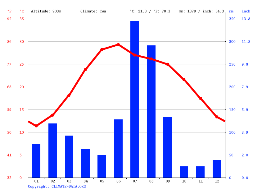 Climate graph // Weather by Month, Chintpurni