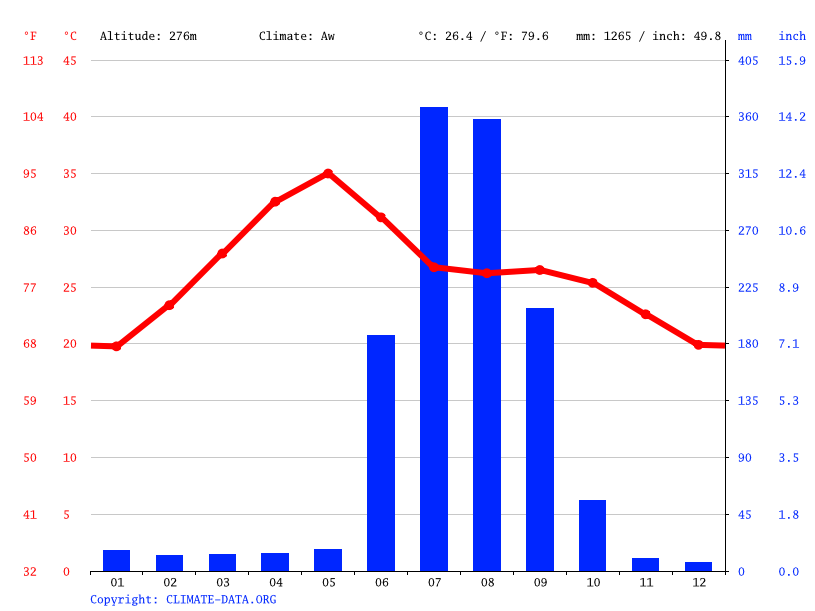 Climate graph // Weather by Month, Deokar